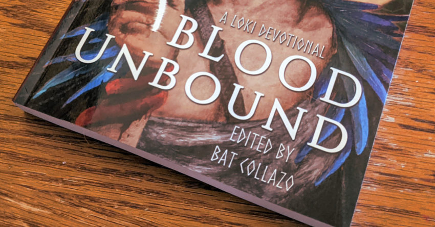 Blood Unbound proof copy on a table