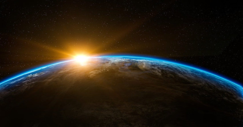 An outer space picture of Earth